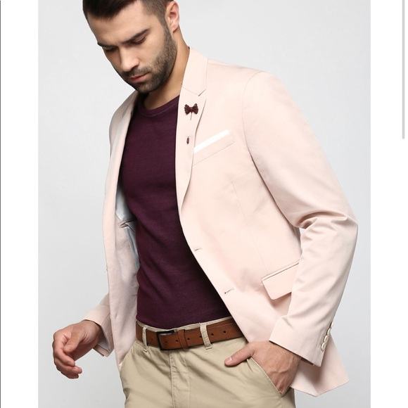 941b0dcf Zara Suits & Blazers | Nwt Man Blush Pink Slim Suit Blazer Jacket ...